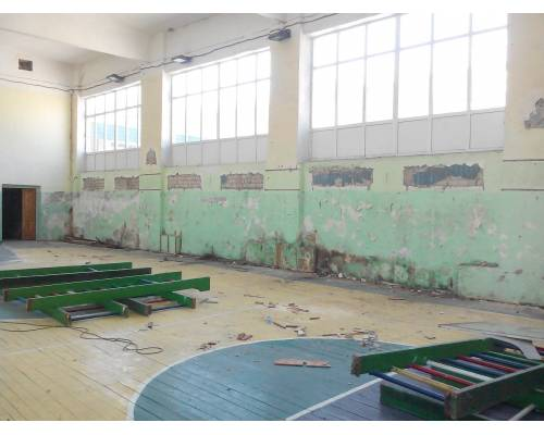 У гімназії №1 розпочався капітальний ремонт спортивної зали.
