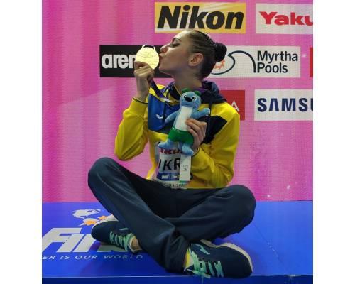 Золота медаль у «хайлайті» збірної України з синхронного плавання