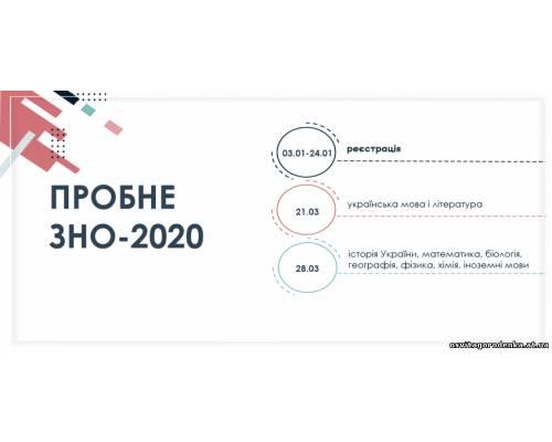 ПРОБНЕ ЗНО-2020 – НЕОБХІДНО СПРОБУВАТИ