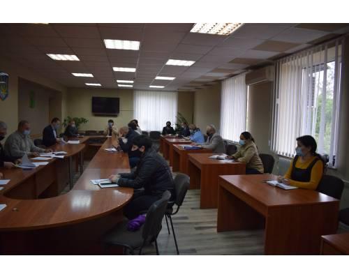 Засідання комісії з питань техногенно-екологічної безпеки  щодо пом'якшення обмежувально-карантинних заходів у місті Люботині.