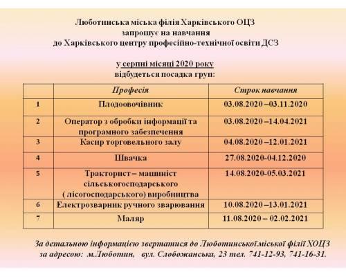 Люботинська філія Харківського ОЦЗ