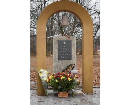 У місті Люботині до Дня вшанування пам'яті ліквідаторів аварії на Чорнобильській атомній електростанції біля пам'ятного знаку героям-чорнобильцям пройшло урочисте покладання квітів.