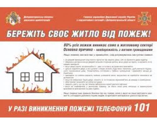Про дотримання правил пожежної безпеки у побуті