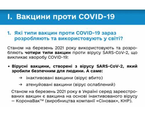 Вийшов збірник «100+ відповідей на запитання про вакцинацію проти COVID-19» (електронна версія)