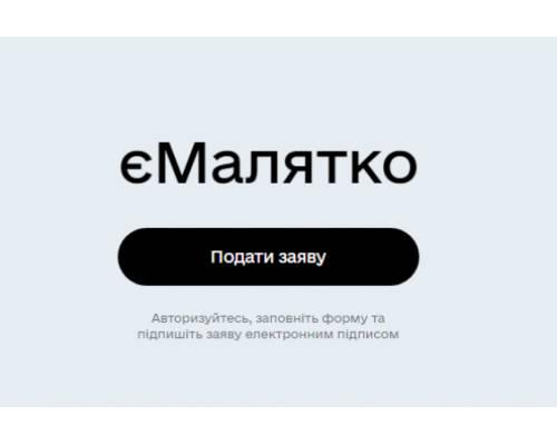 Понад 100 тисяч українських родин скористалися сервісом «єМалятко»