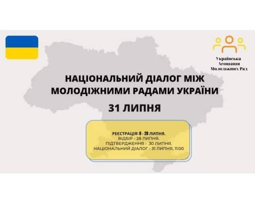 Українська Асоціація Молодіжних рад 31 липня провела національний діалог між молодіжними радами в Україні,